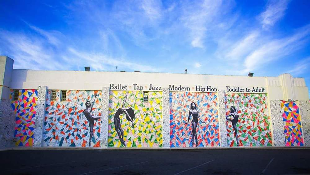 In 2015, street artist KFish created this beautiful mural on the side of San Pedro Ballet School featuring larger-than-life portraits of American Ballet Theatre superstar Misty Copeland. Copeland got her start at San Pedro Ballet School when she was 13 years old.