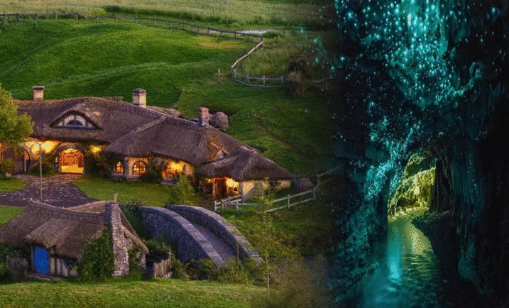 Glowworm Caves and Hobbiton Combo with Marquee Festival Feast Buffet Lunch