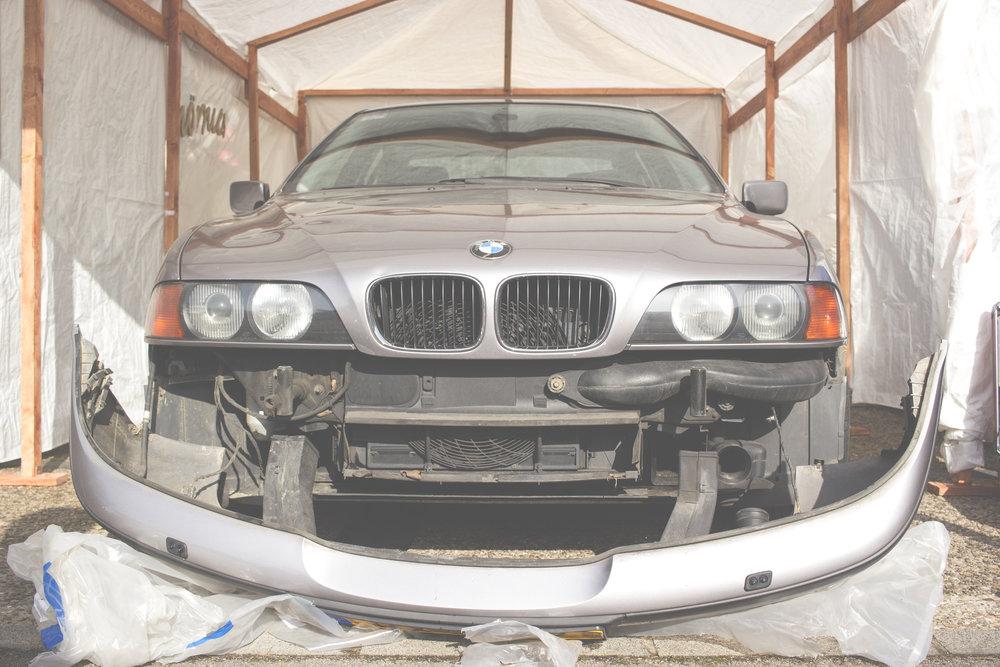 bmw e46 320d front bumper removal