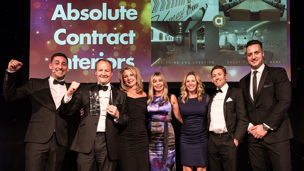 "AWARD WINNING - ""A new category for this year's awards to reflect some of the great work being done on interiors of all sorts by businesses here In Yorkshire. Harrogate's Absolute has set a strong standard to follow in taking this year's prize with a portfolio of work across offices that has what the judges called a visual excellence."" - Insider (2016)"