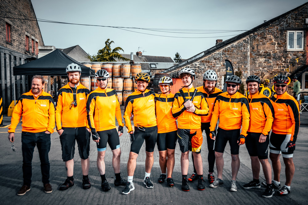 The Absolute team ready to tackle the grueling North Yorkshire countryside