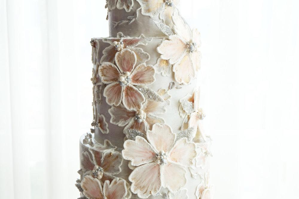 Silver Glitter Cake