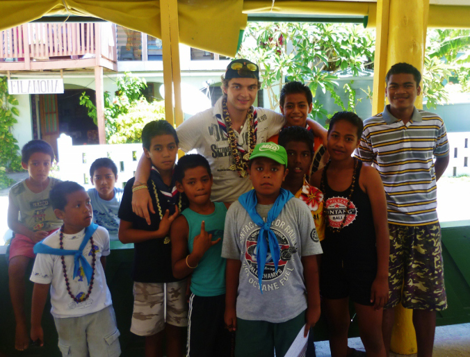 Saying 'tofa' to the Tuvaluan Scouts - fantastic young people, every last one of them...