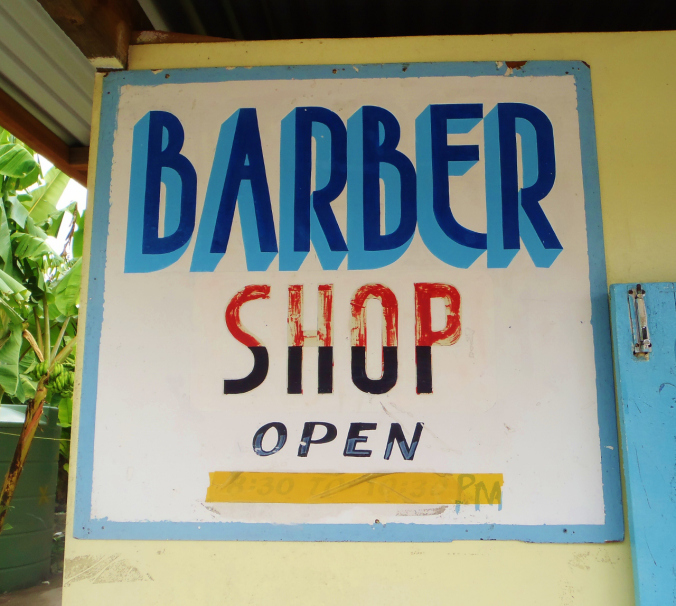The not-so-open barber shop...