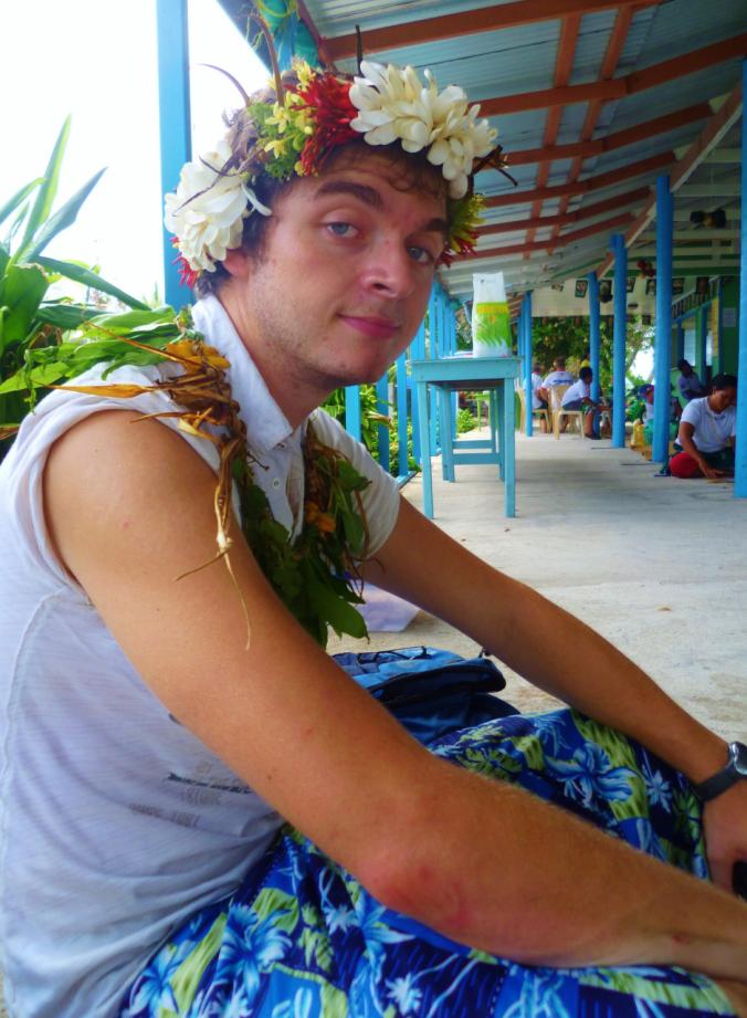 Festive floral fau- celebrating Tuvalu style...