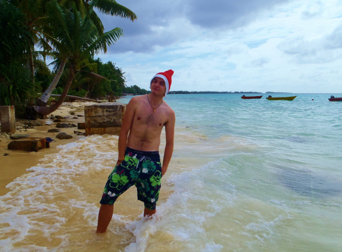 Time for a festive Christmas eve swim...