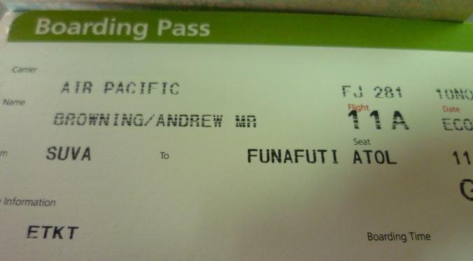 One of the more exciting plane tickets I've owned...
