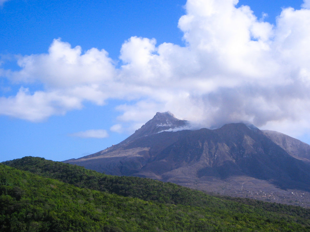 No bubbling lava lake in Montserrat...