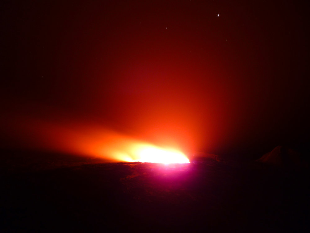 The volcanic glow eminating from the Gates of Hell...