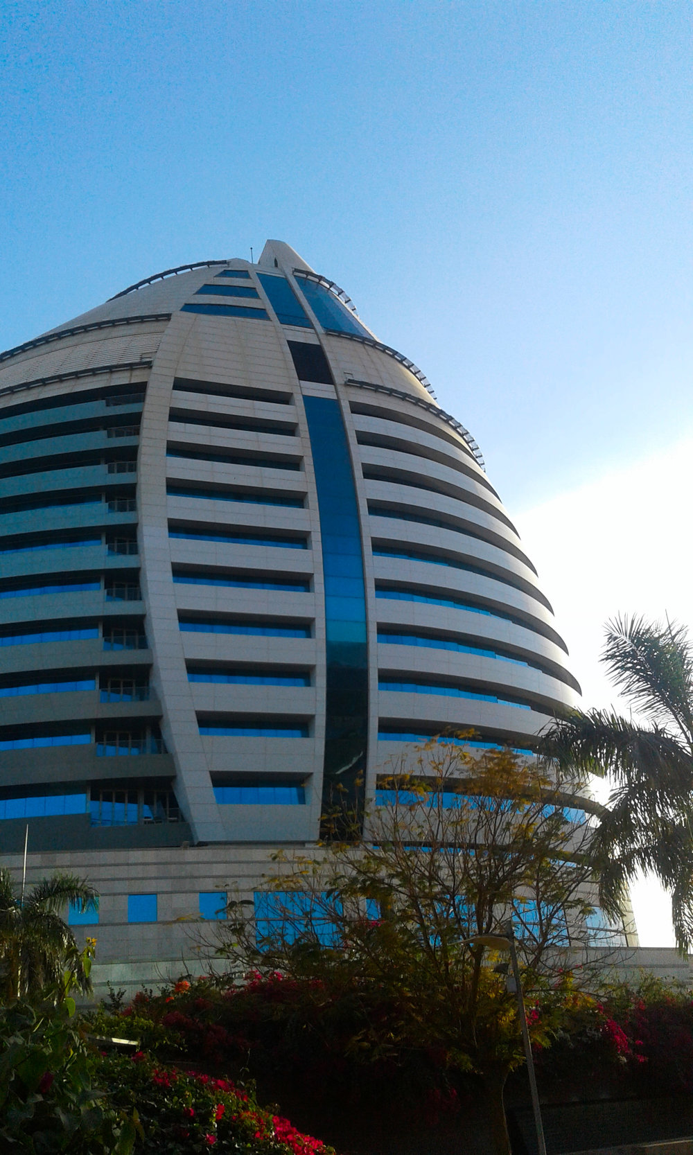 Khartoum's Corinthia hotel, or Gaddafi's egg if you prefer...