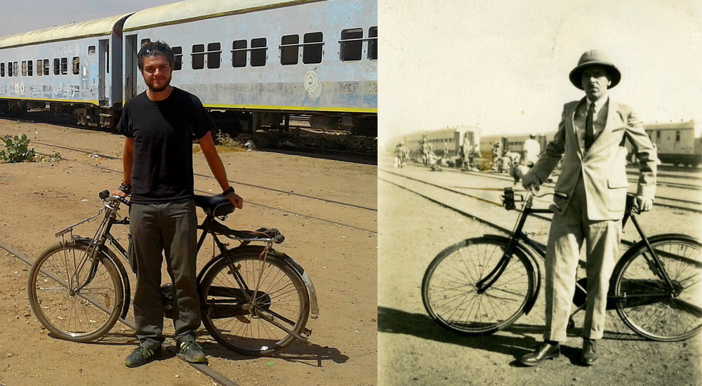 Me and my Great Grandfather Ruben hanging out and posing at Khartoum station…