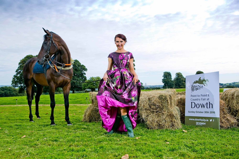 Champion Lady Point-to-Point Rider Aileen O'Sullivan (from Walterstown, Co.Meath) with racehorse 'Lady of Brega' to launched The 2016 Point to Point and Country Fair at Dowth which will take place on Sunday 30 th  October.