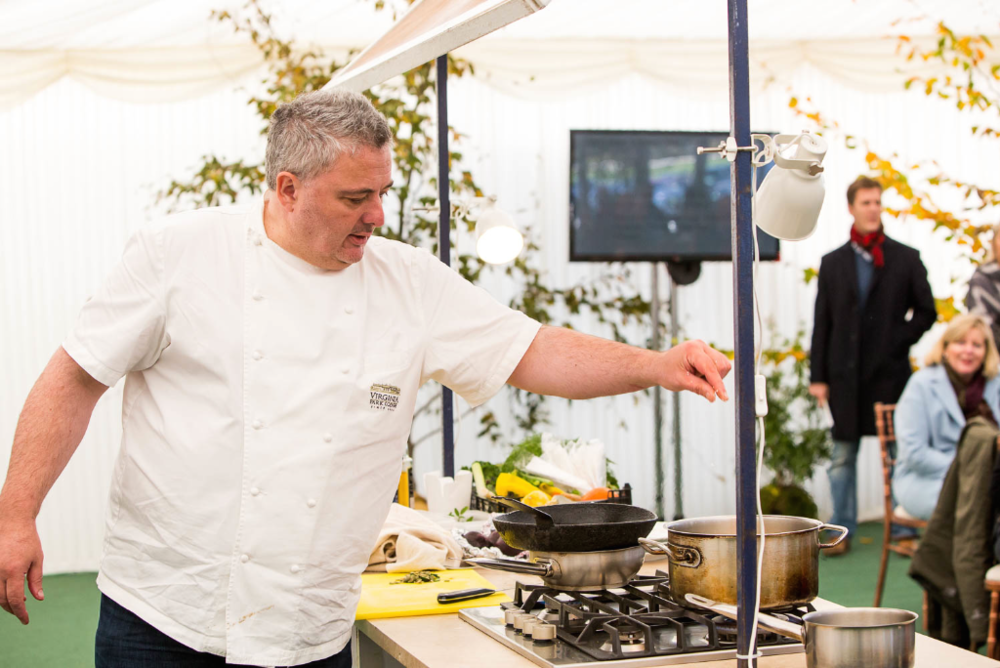 Visitors to the Dowth Point to-Point & Country Fair enjoyed cookery demonstrations from food ambassador and Michelin star chef, Richard Corrigan.