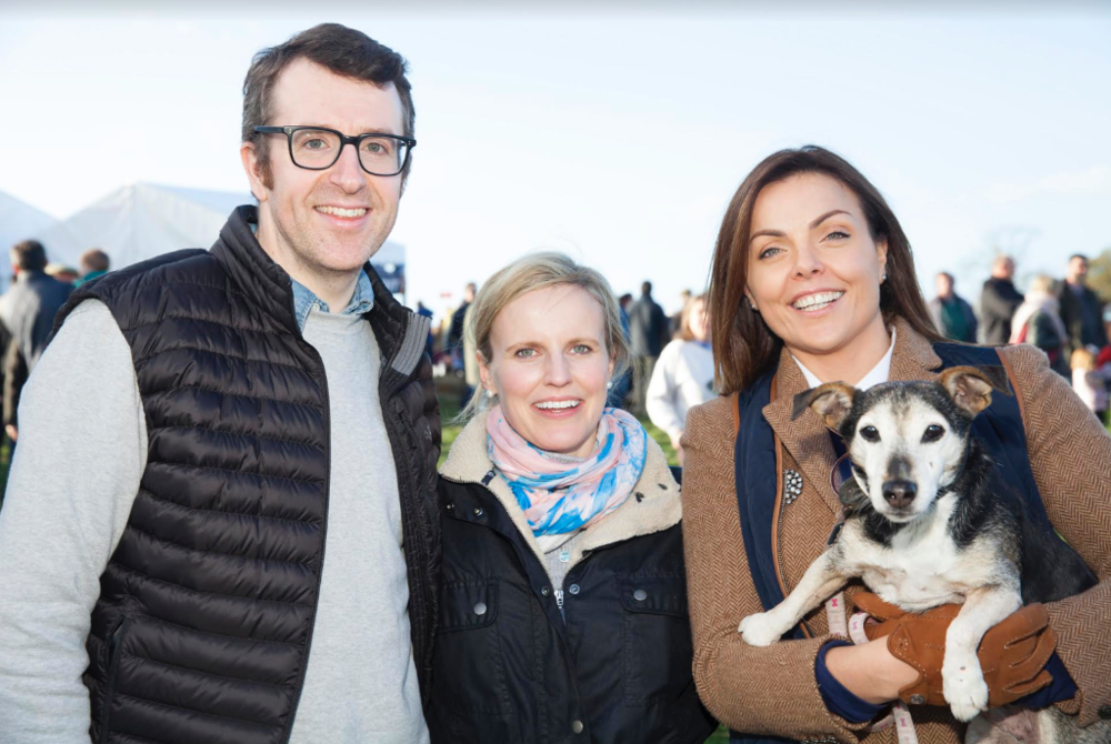 Tom Eivers, Nicola Flannagan and Hayley O'Connor pictured at the inaugural dog show at the Dowth Point-to-Point and Country Fair