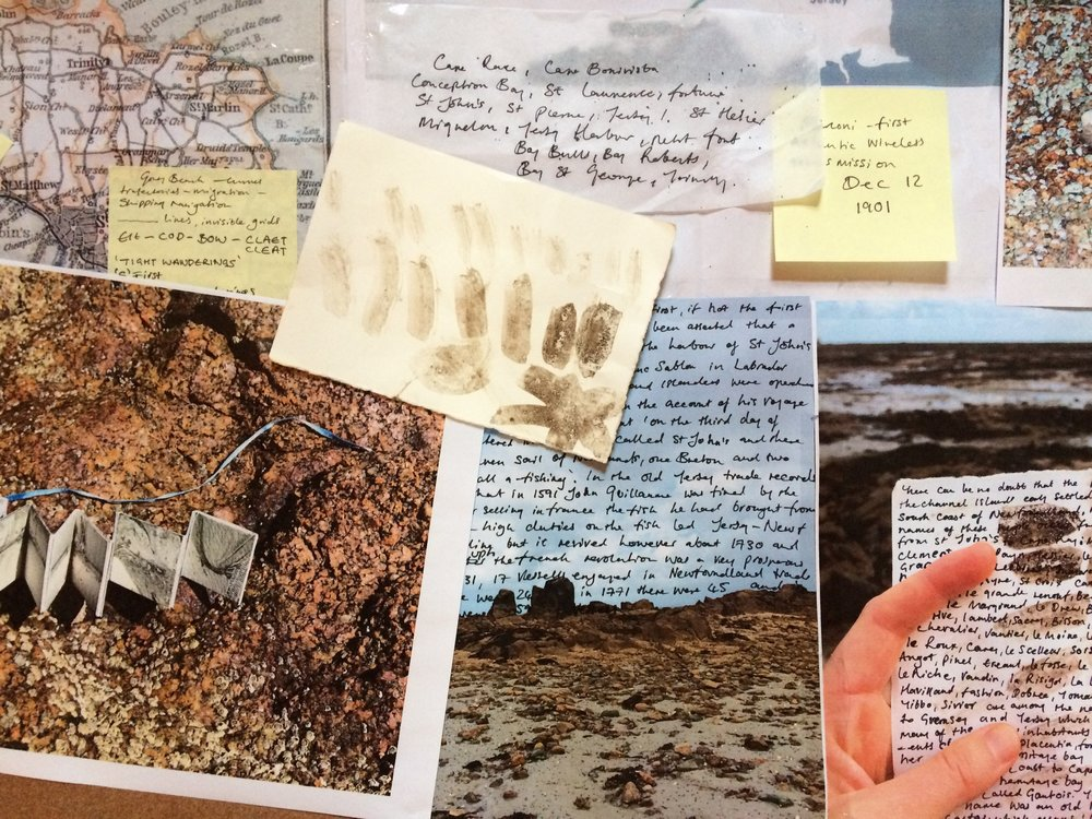 Notes, including documentation from my ' Pocket Archive'  and writing on the connections between Jersey and Newfoundland.