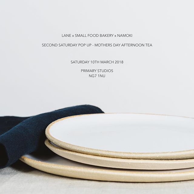 | Pop Up Announcement | NAMOKI will be joining @lanebypost and @smallfoodbakery as part of their 'Second Saturday Pop Up' series with a 'Mother's Day Special Afternoon Tea'. Local Nottingham florist @elderandwild will also be offering beautiful bouquets of British grown floral delights so you can all be sure to treat those lovely mums. Link for afternoon tea tickets and flower pre-orders in bio.
