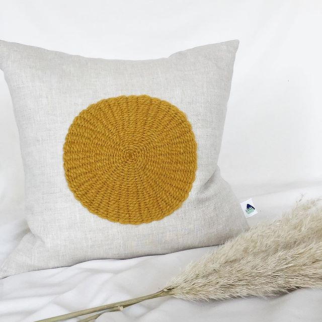 The most perfect yellow of all yellows 💛 | The 'Circle Cushion' by @lauriemaun available now online |