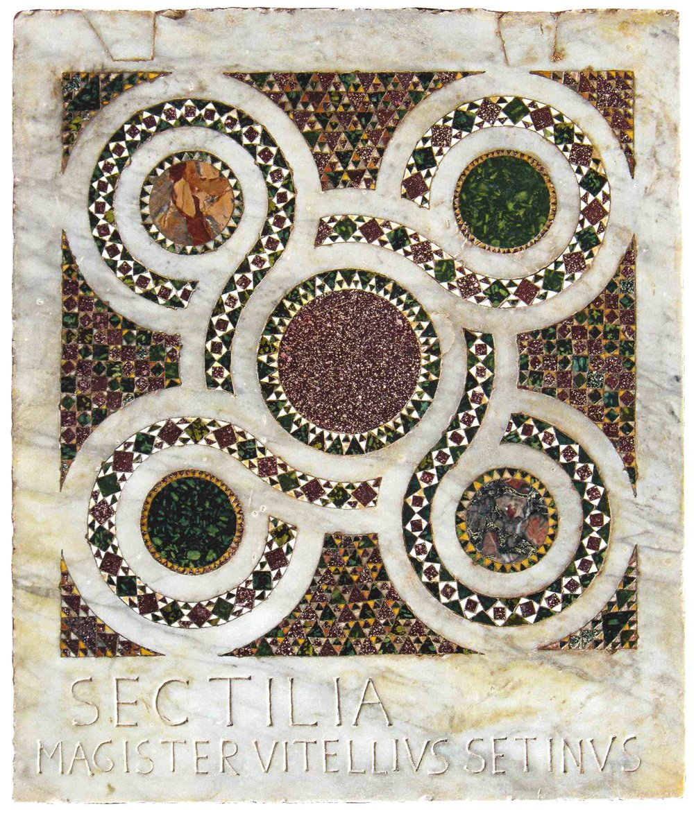 A Thousand year old mosaic in Farfa Abbey | www.tastetrailsrome.com  | Italian cooking holiday.