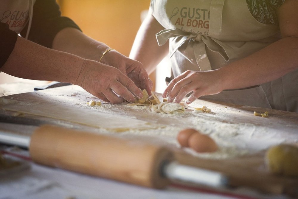 Preparing to make fresh pasta - www.tastetrailsrome.com -  Cooking holidays