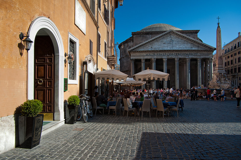 Fro those staying for the Week , we visit Rome and have lunch near the Pantheon.          www.tastetrailsrome.com