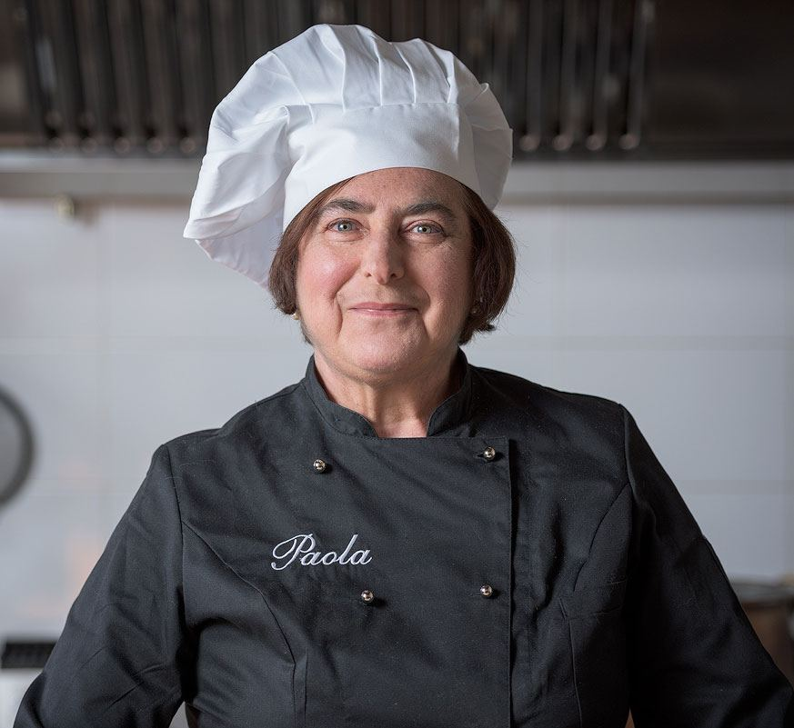 Paula ,  Co - owner  / Chef at the renowned Gusto al Borgo scuola di cucina.