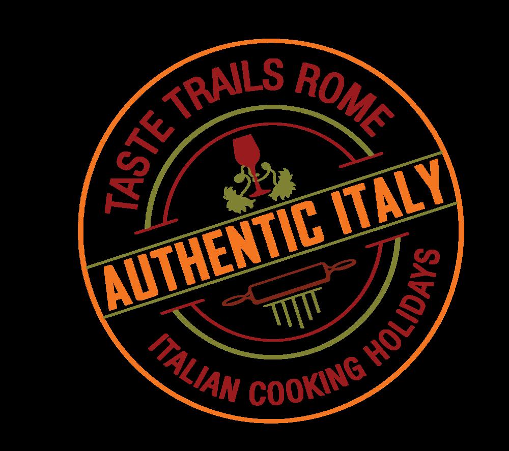 logo www.tastetrailsrome.com cookery holidays Italy