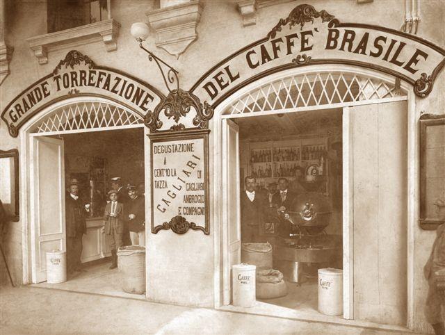The Caffe Cagliari original coffee premises