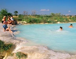 Natural hot springs