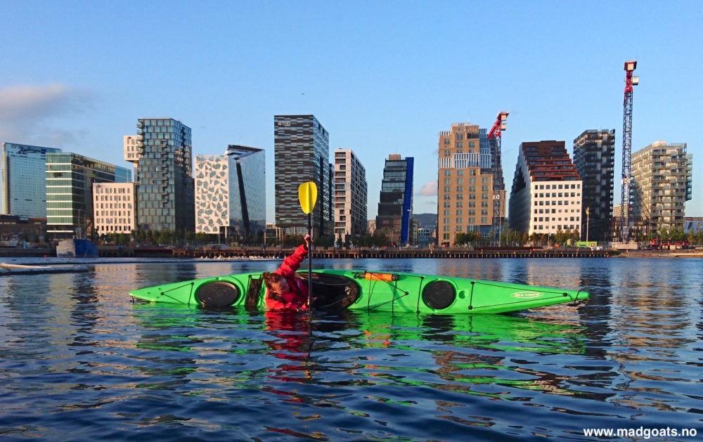 Kayaking in the Oslo Fjord with Mad Goats - 12.00 pm - 3.00 pm September@At the dock behind the Opera House