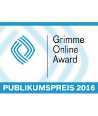 Grimme Online Award 2016     Publikumspreis    Projekt:  Brainfed   Kategorie: WISSEN und BILDUNG   Kunde: bpb   Jahr: 2016