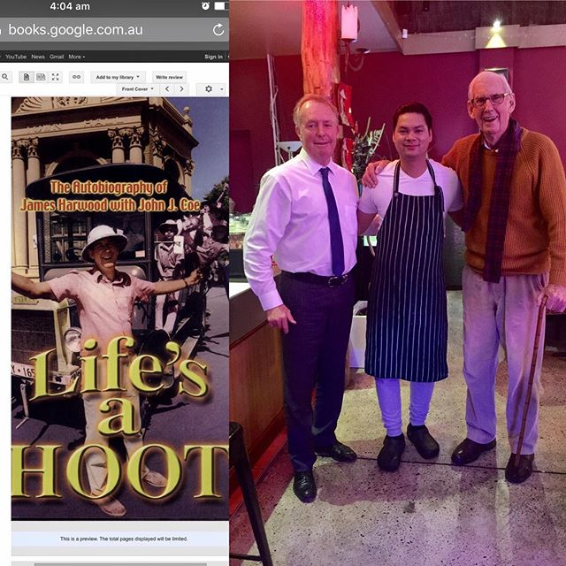 With our lovely customer,  a great musician play harmonica and an author of ''Life's a Hoot' James Harwood. #vusrestaurant #happycustomers #vietnameserestaurant #jamesharwood #author #diners #perthisok #cityofsouthperth