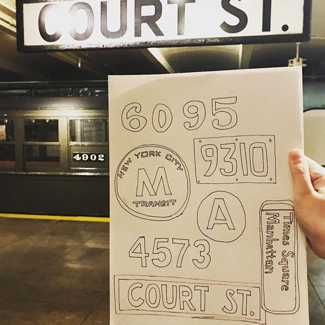 Love me some vintage lettering! #subwaysketchnight #transitmuseum