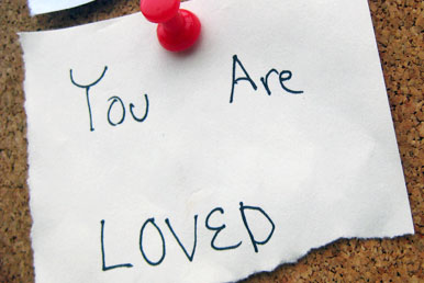 note saying you are loved