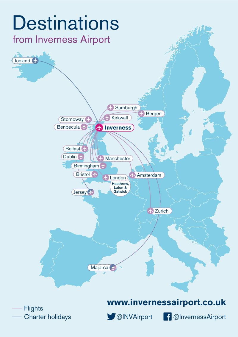 Inverness Airport  is adding new routes and destinations. .