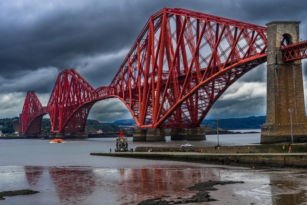 The Forth Bridge, part of Scotland's iconic railways