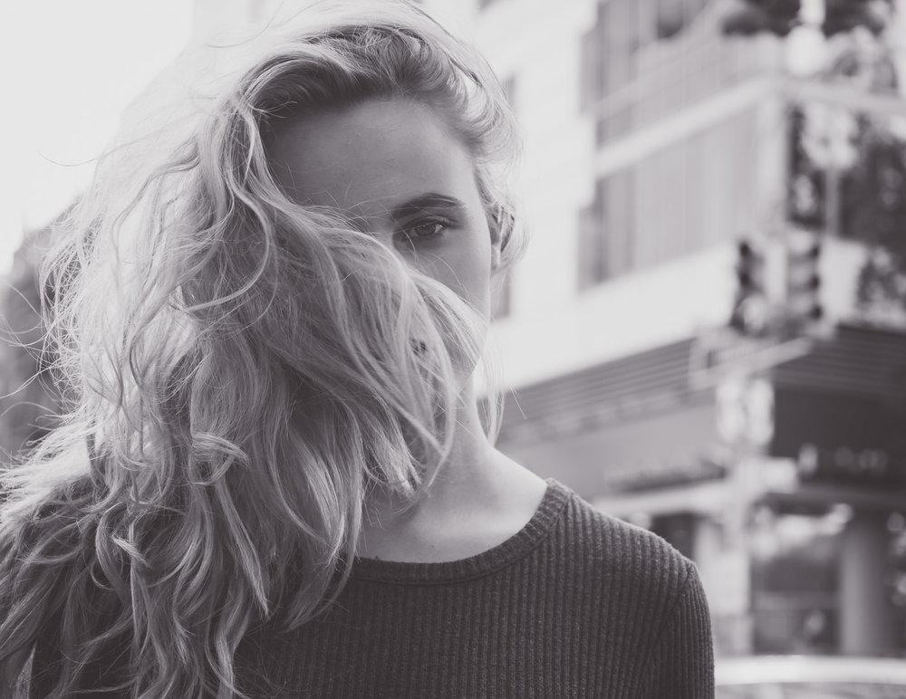 FujiFilmx Portrait bw windy hair (1 of 1).jpg