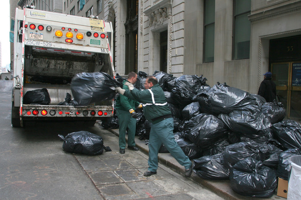 Garbage Truck and Workers