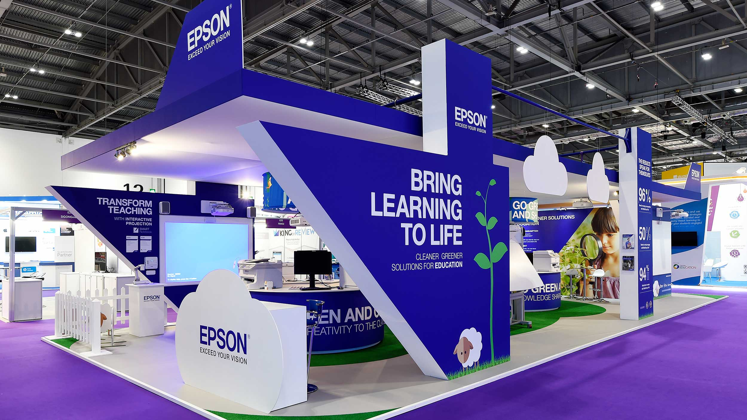 Bett Exhibition Stand Of The Year : Epson bett education show bespoke stand in events