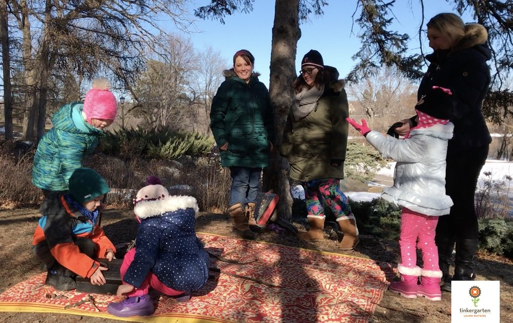 Tinkergarten at Como Park in Saint Paul, MN.