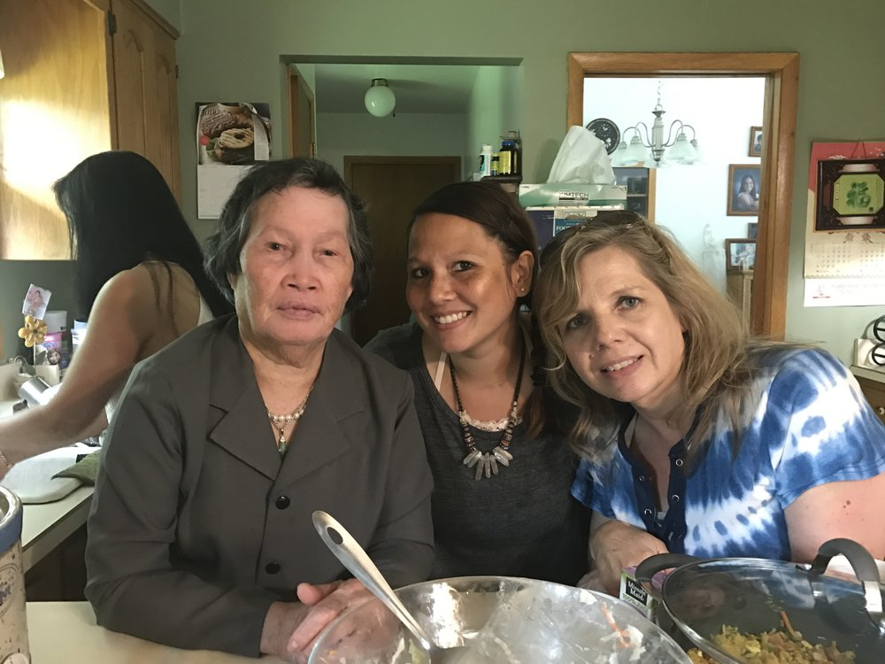 Heatherlee with her Vietnamese grandmother and mom.