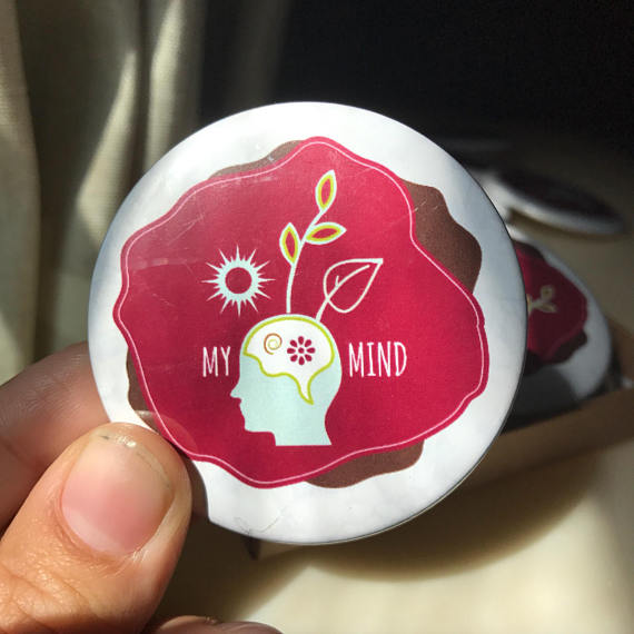"myMIND pin $5.00 buy on etsy ""My Mind"" pin, 1 of 3 mind, body, soul empowered self pins!   • Standard, 2¼ Inch circular pin • Covered with scratch and UV-resistant Mylar • Printed in USA • Sold as set of 3"