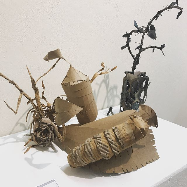 🐛🦋 Loving this chipboard project from a 3D student spotted @mcadedu Man I miss being an art student sometimes. There's nothing like those exploratory years.. . . The world is your chrysalis! ✨💫