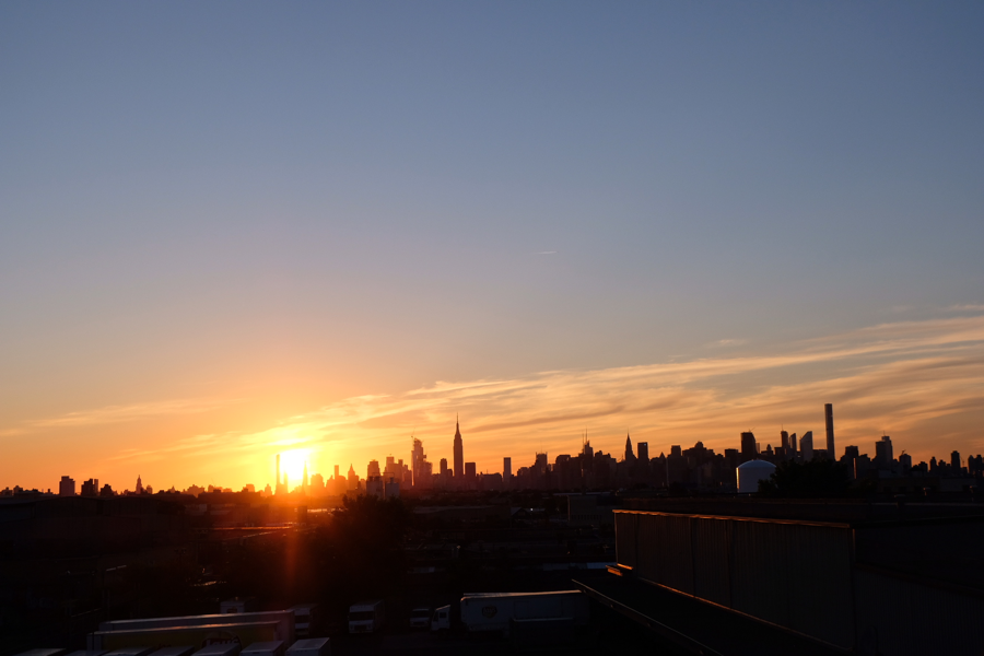 Shot of my rooftop view in Brooklyn— one of my favorite spots to relax after a long day.