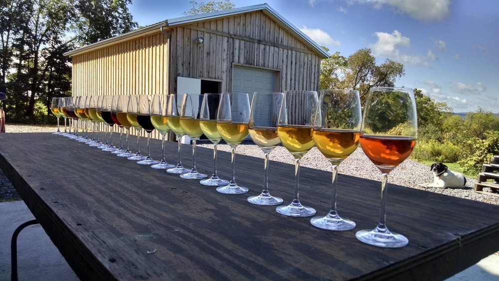 Wine selection from  Bloomer Creek  vineyards