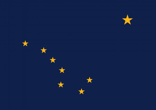 The Big Dipper, and Polaris are represented on the state flag of Alaska