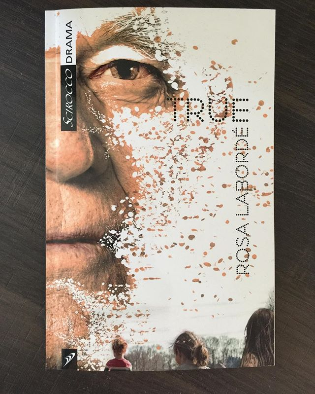 """TRUE by @rosalaborde finally hits the stands!!! 🎉#sciroccodrama jgshillingford.com """"...a tightly woven, highly emotional one-act play filled with humour and heartbreak-and featuring a daring ending..."""" J. Kelly Nestruck @globeandmail  Sisters Marie, Cece, and Anita run a small coffee-and-clothes shop. One evening, their estranged father, Roy, wanders in, in his pyjamas. He is clutching a note explaining that he has Alzheimer's and admonishing his daughters for abandoning their parent in his time of need. The women must decide whether his parental sins should be forgiven just because he has now forgotten them. criminaltheatre.com #theatre #torontotheatre #hitplay #multiversetheory #alzheimers #alzheimersawareness #criminaltheatre @sabrinagrdevich @clementinefields @alunatheatre"""