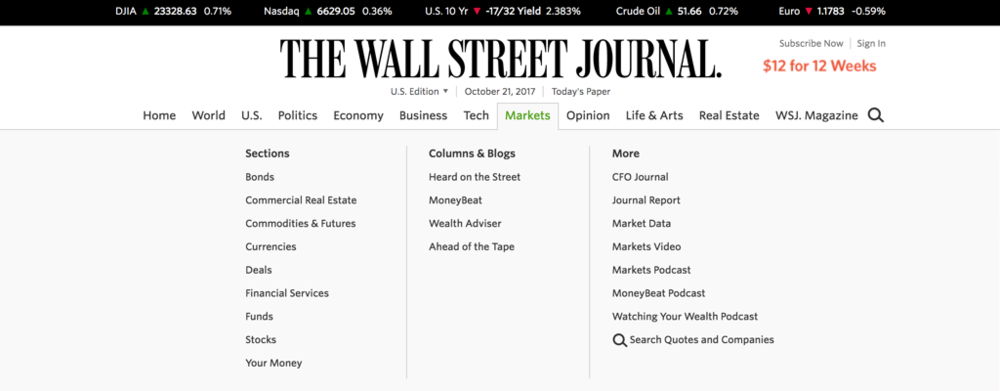 The Wall Street Journal Navigation Bar.png