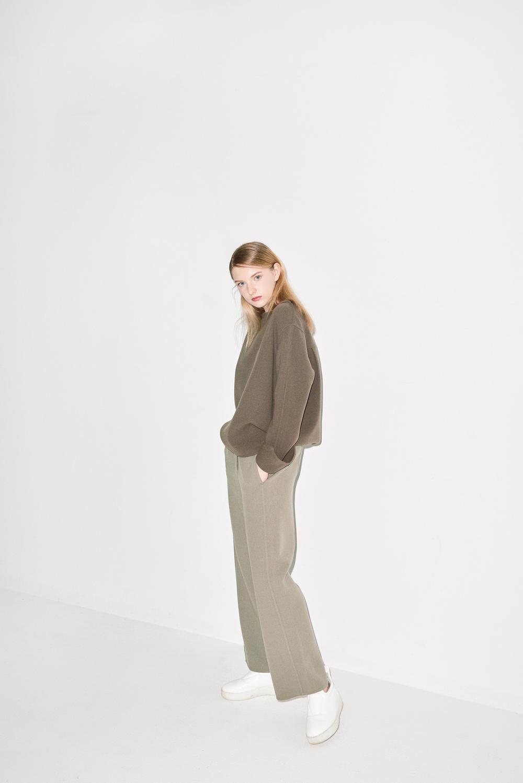 HB01. Light brown handmade blouse, HP01. Light brown handmade pants