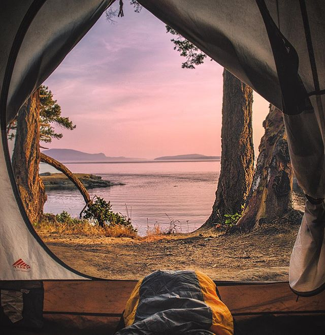 Looking out over the San Juan's from Sucia Island.  An amazing weekend exploring a part of Washington that I've always wanted to experience.  Thanks to @outdoorodysseys for an amazing weekend of paddling, camping, and the most spectacular camping food one could imagine. - * - #paddle #hikingadventures #hikingculture #pnwlife #rei1440project #campingvibes #campcamp #seakayaking #sanjuanislands #sucia #explorewashington #juandefuca #kayaking #tent #wilderness #liked #followmeto #pnwonderland #washingtonstate #islandlife #explorepage #wildnout