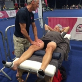 Sports massage isn't just for Tour de France winners like Stephen Roche, pictured above with Gary